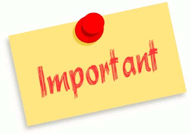 Informații importante – 17.01.2013