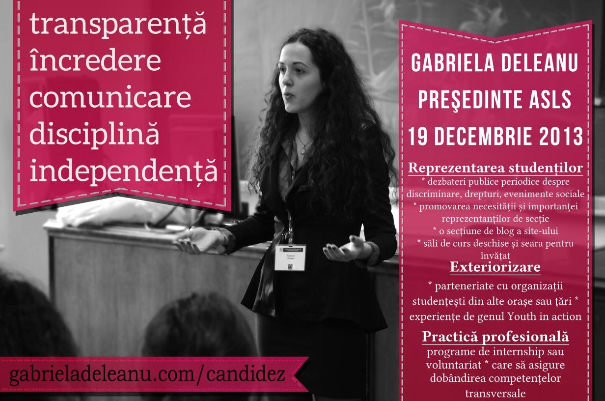 Profil de candidat: Gabriela Deleanu