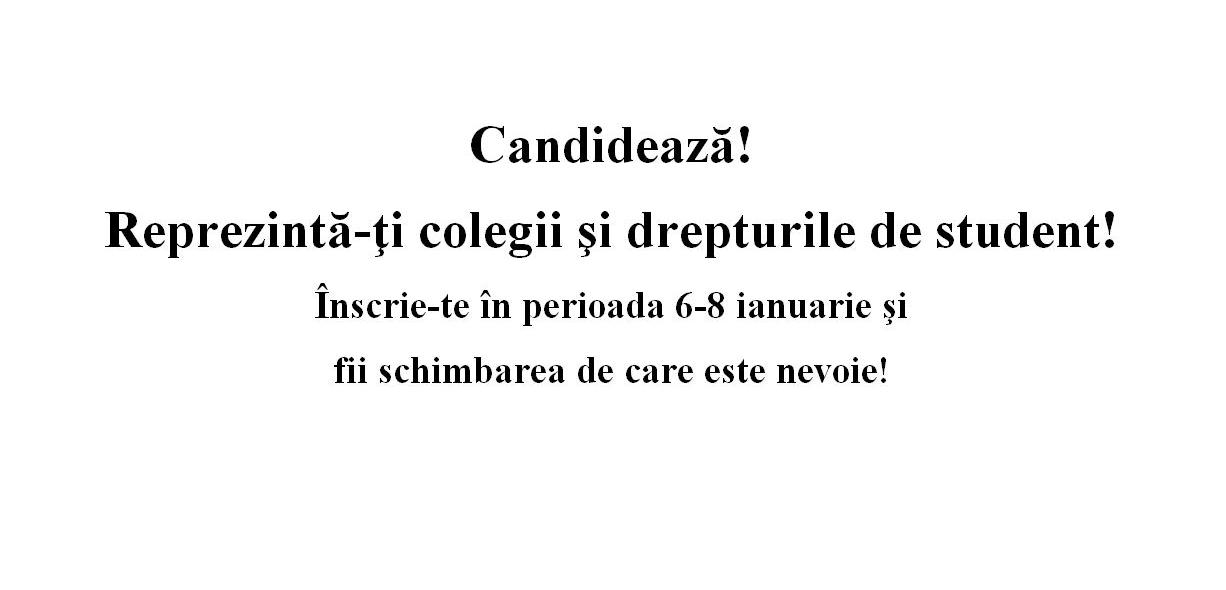 Alegeri studenţeşti 2013-2014 – Actualizat 23.02.2014