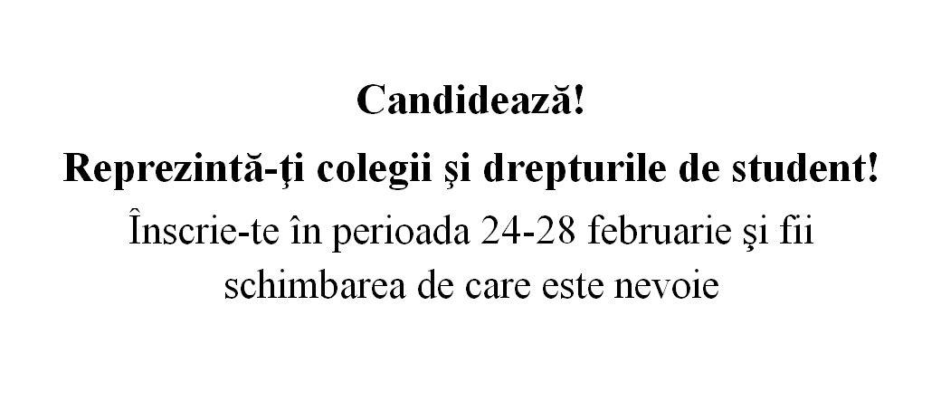 Alegeri studenţeşti 2014 – actualizat 25.03.2014