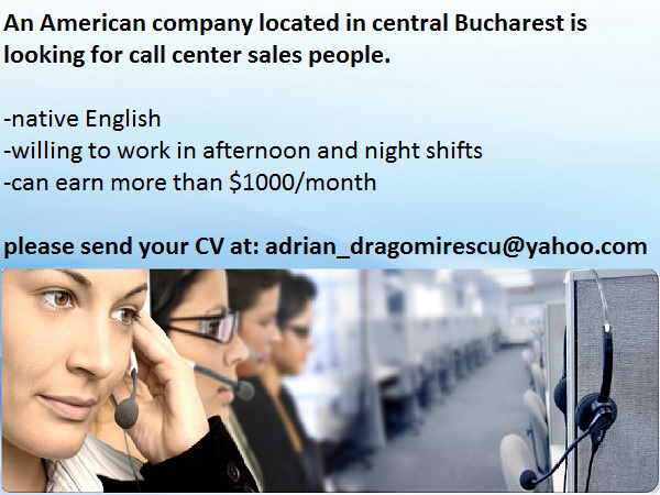 Moving and Storage SRL is hiring English speakers!
