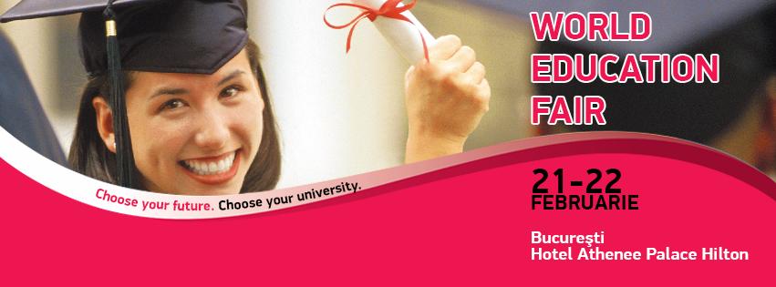 World Education Fair – Burse de Master și MBA pentru studiul în străinătate