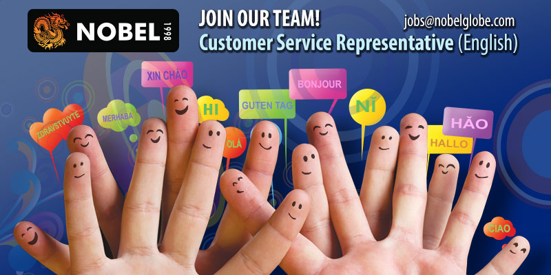 Nobel Romania hires Customer Service Representative with English