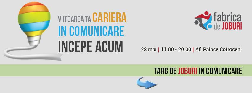 Primul târg de joburi dedicat industriei de comunicare în București