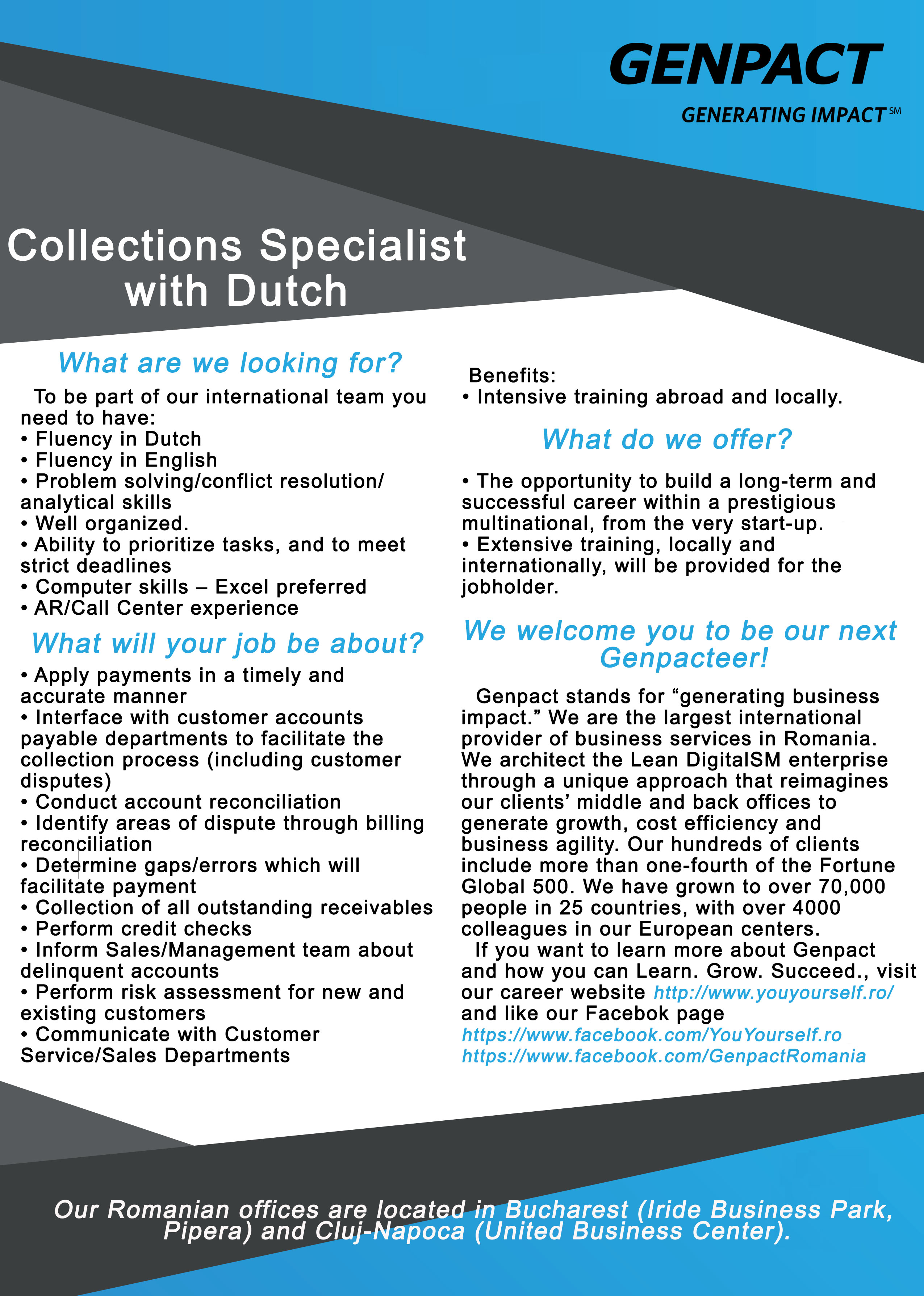 Collections Specialist with Dutch