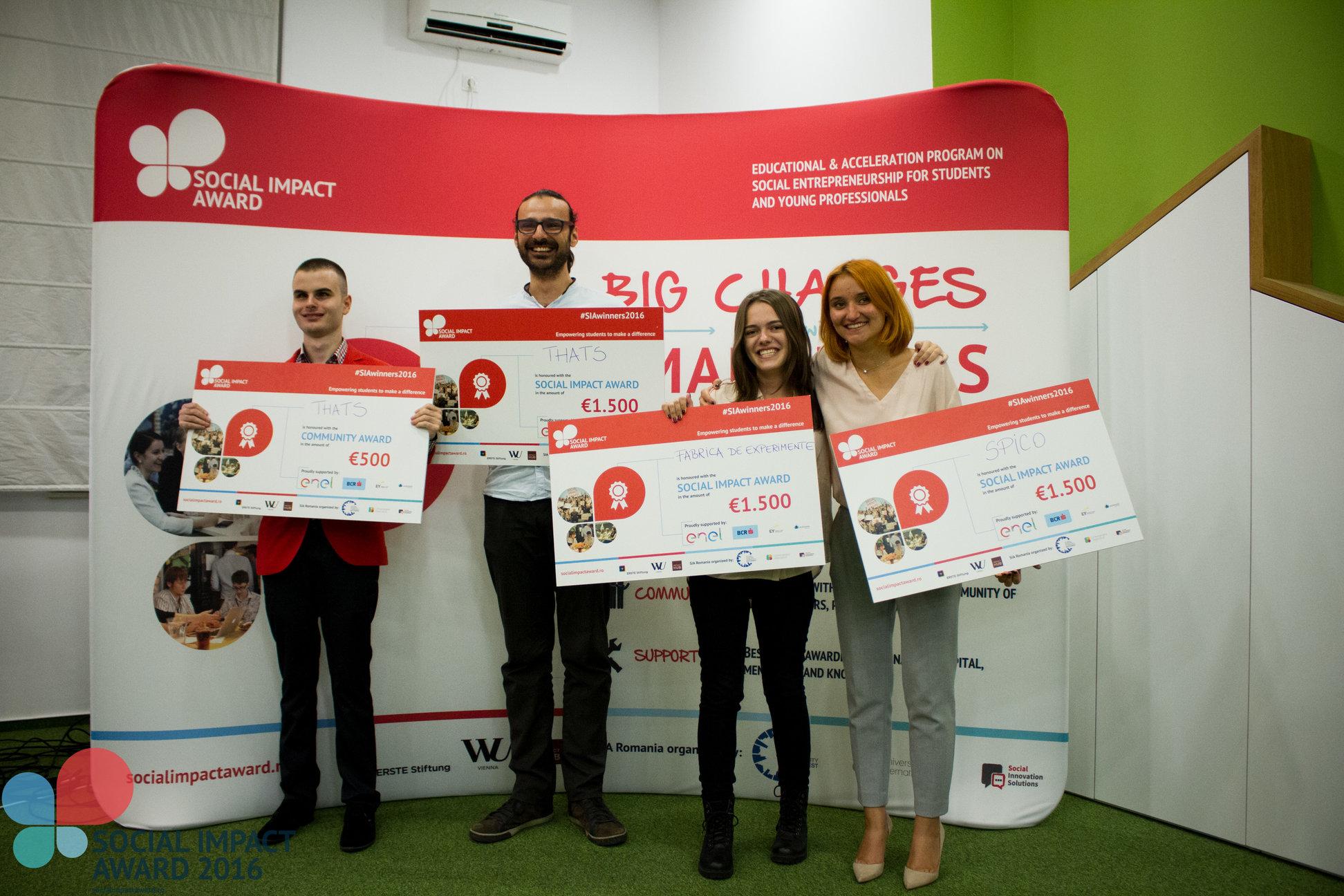 Câștigătorii Social Impact Award România