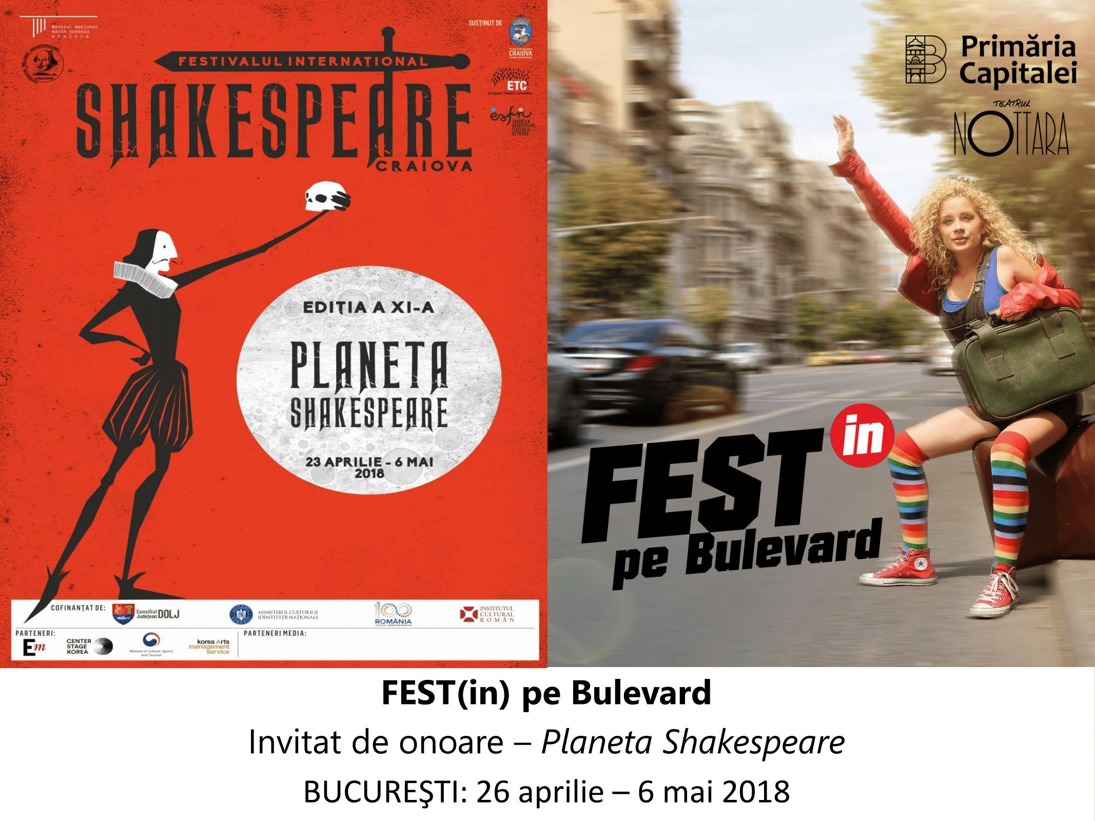 Festivalul Internațional de Teatru – Fest(in) pe Bulevard 2018