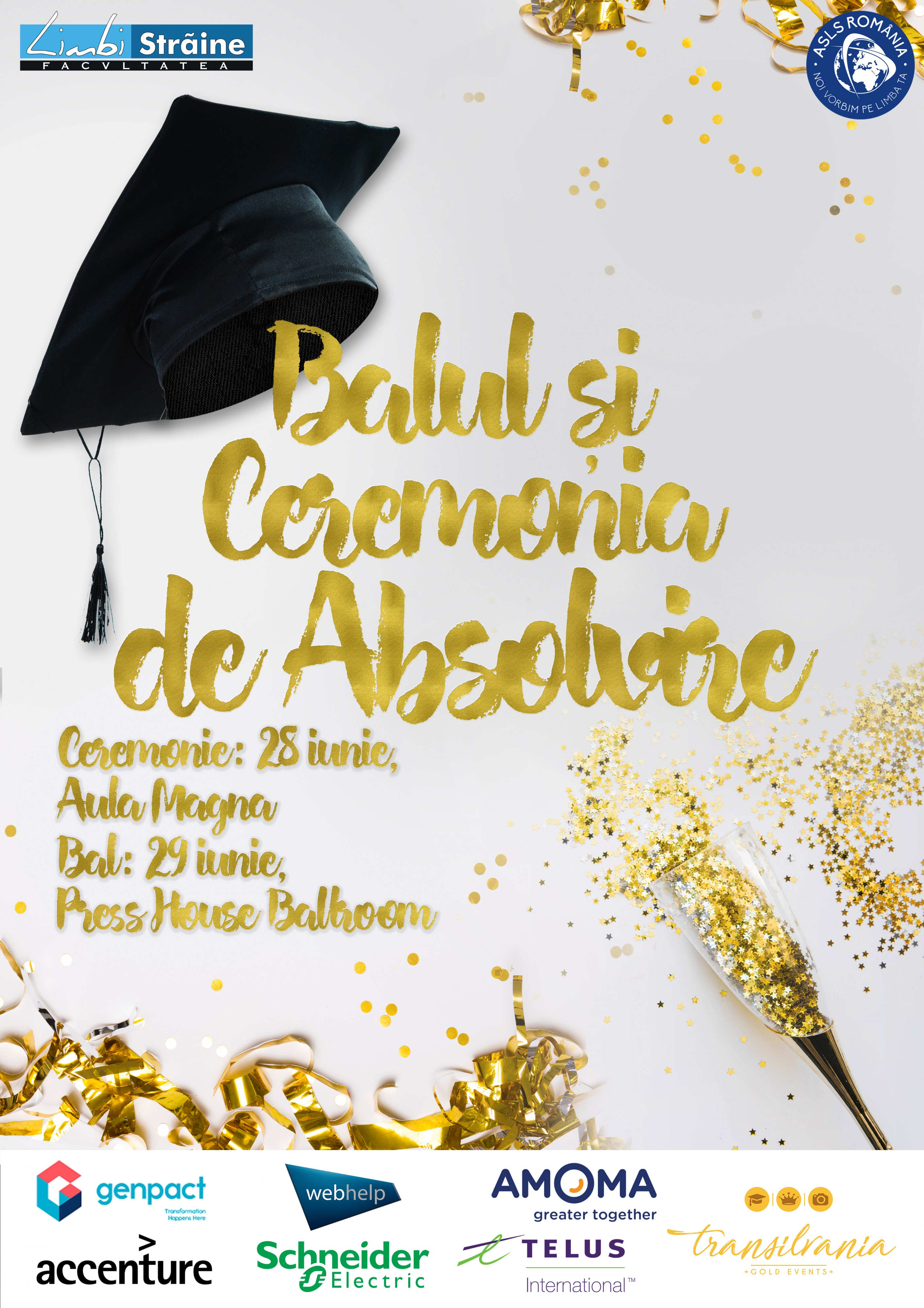 Balul și Ceremonia de Absolvire 2018