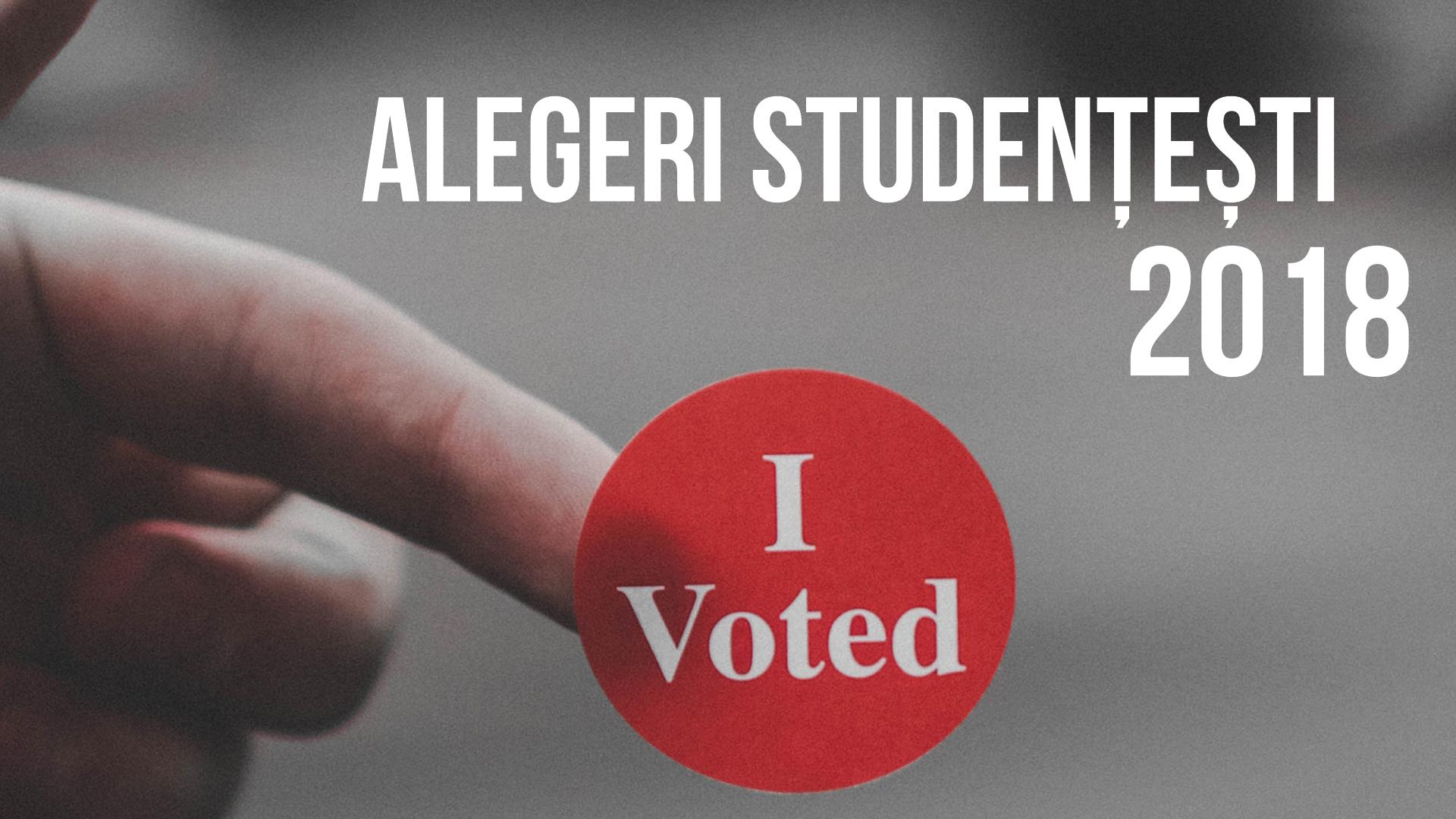 Alegeri studențești 2018