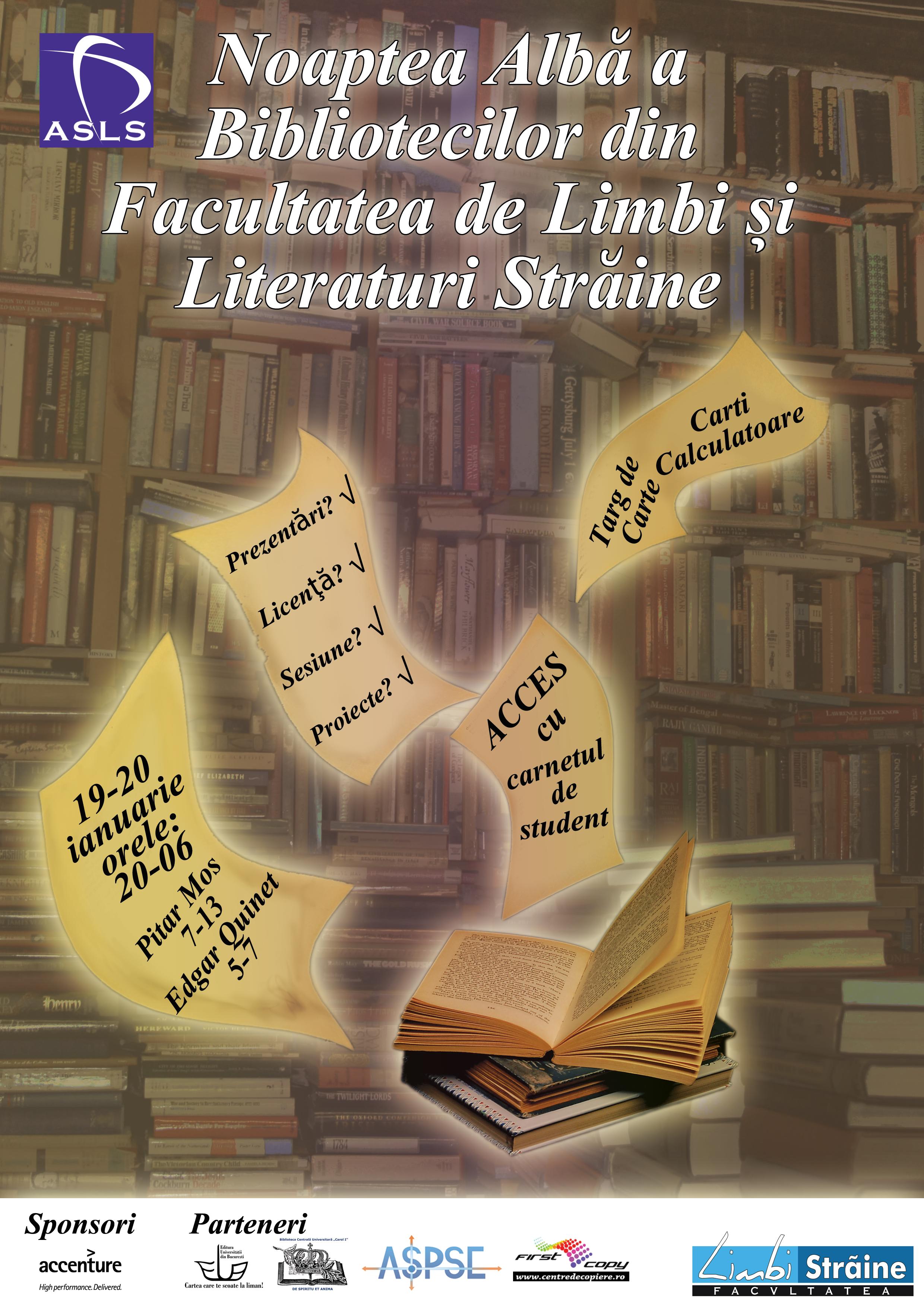 Noaptea Albă a Bibliotecilor din FLLS
