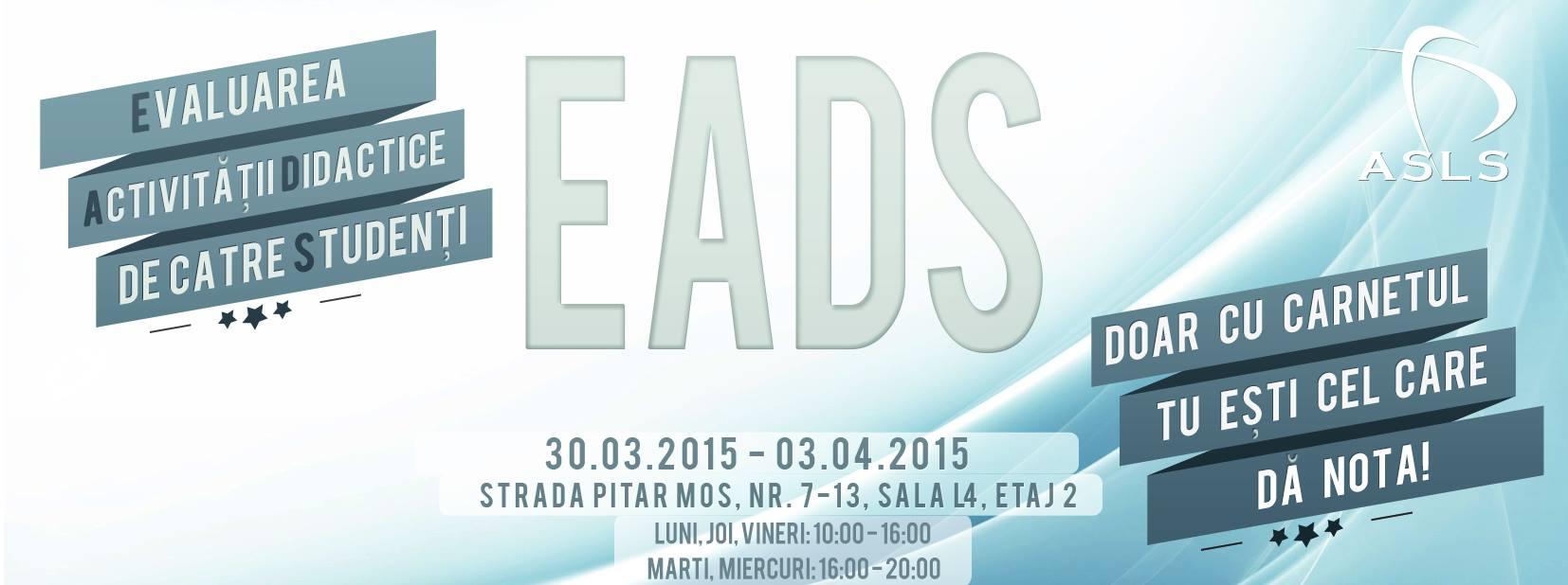 EADS – Evaluarea Activității Didactice de către Studenți