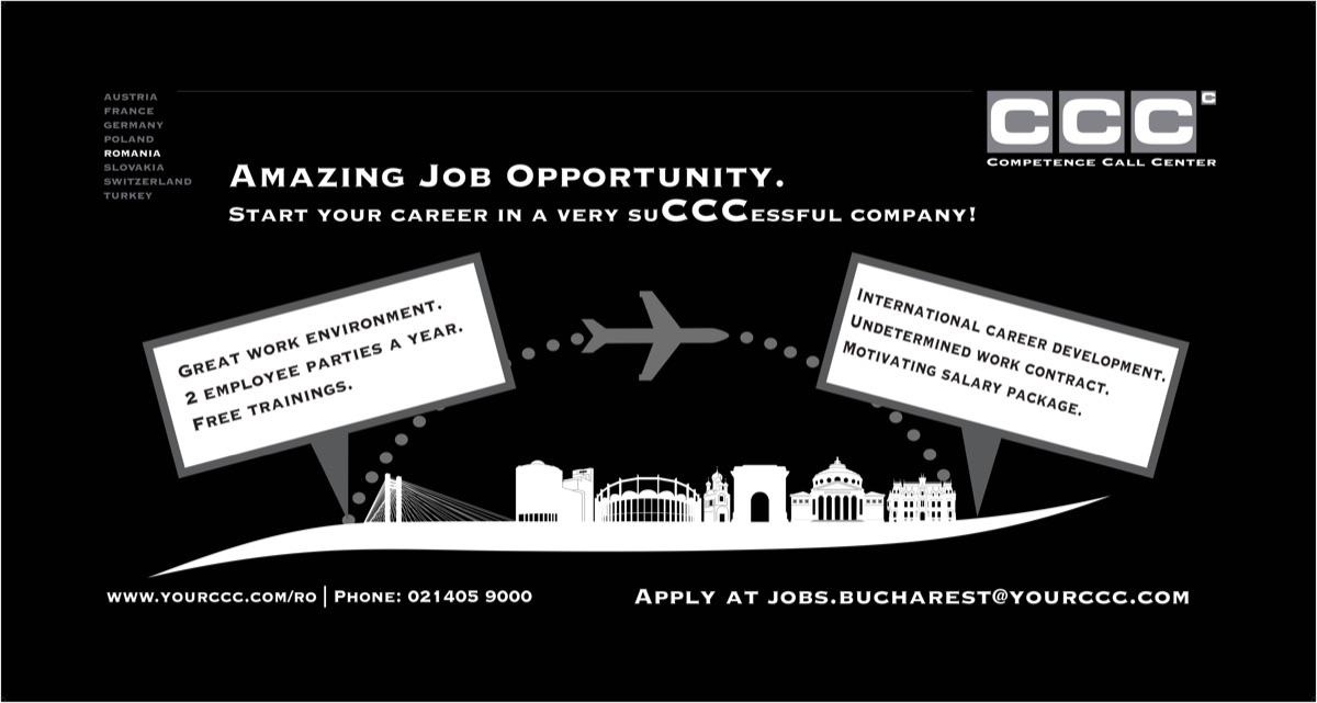 Începe-ți cariera la CCC!