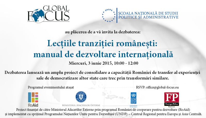 Be part of a landmark project implemented with support of the Ministry of Foreign Affairs and UNDP!