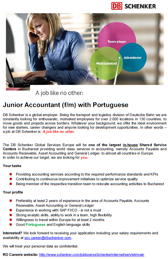 Junior Accountant at DB Schenker with Polish and Portuguese