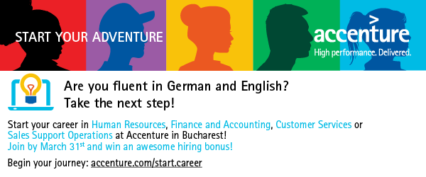 Speak German? Join Accenture in Bucharest and win an awesome hiring bonus!