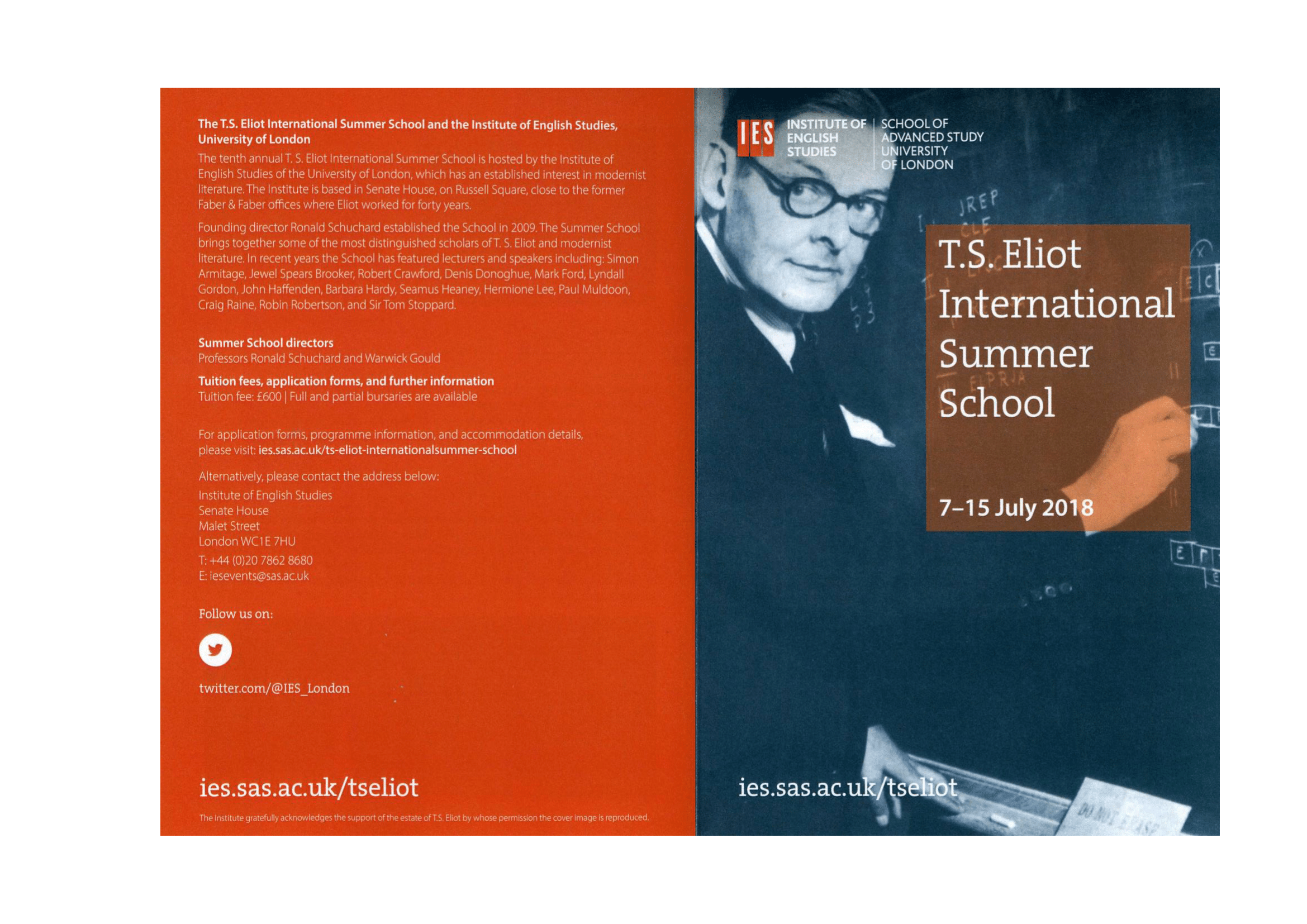 T. S. Eliot International Summer School