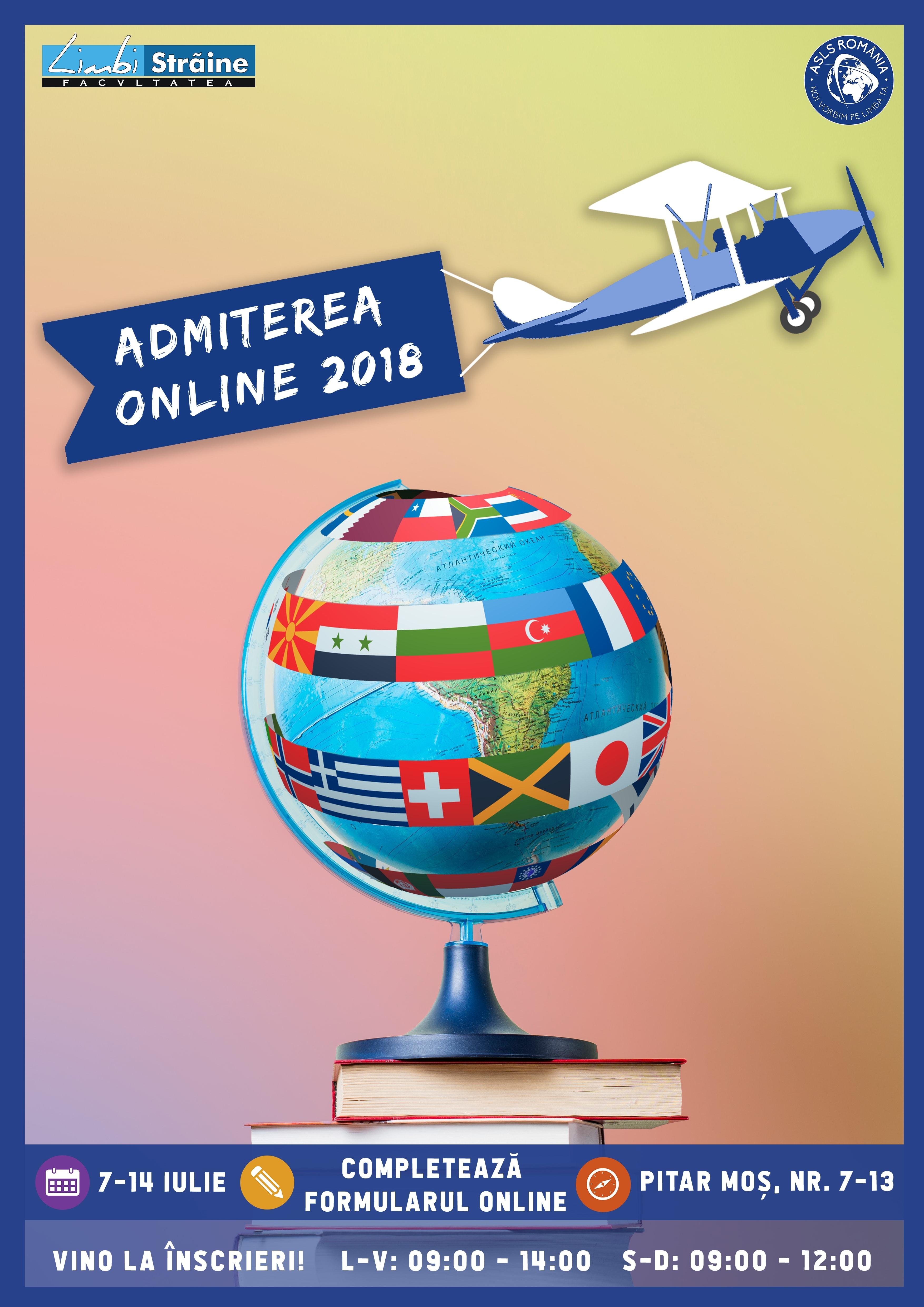 Admiterea Online 2018